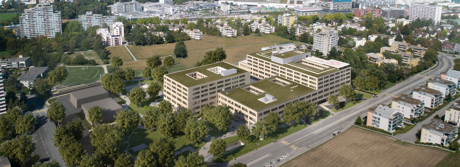 Visualisierung Pflegezentrum Neubau